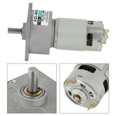 35W DC 12V//24V Adjustable Speed Micro Metal Gear Motor CW//CCW 5-600RPM HighQ NEW