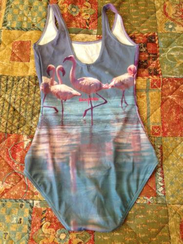 Clothing Blackmilk Black Xs Milk Flamingos Size Swimsuit 5yxB686Swq