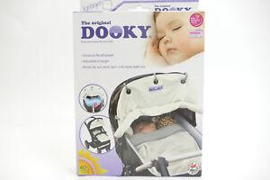 Dooky-Wind-und-Sonnenschutz-fuer-Kinderwagen-Babyschale-Buggy-Cream