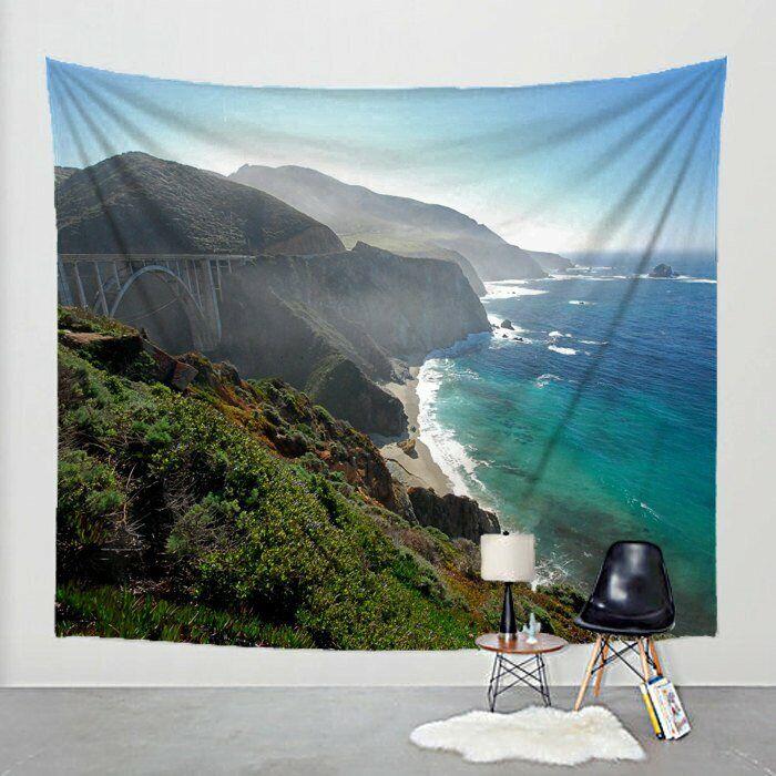 Photo Tapestry California Coast Fabric Art Print Wall Hanging Hanging Hanging - Highway 1 c112e2