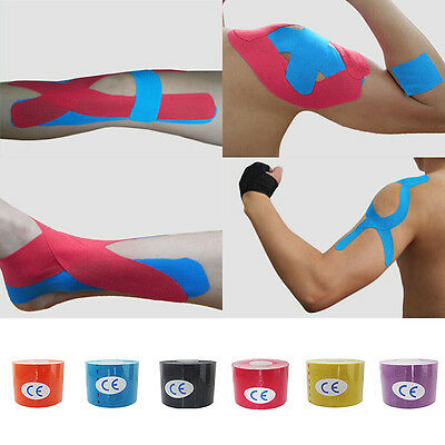 1 Roll 5mx5cm Kinesiology Sports Muscles Care Elastic Physio Therapeutic Tape