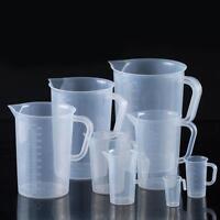Transparente Kunststoff Messbecher Messkanne Maßbecher für Labor Küch 250-2000ml