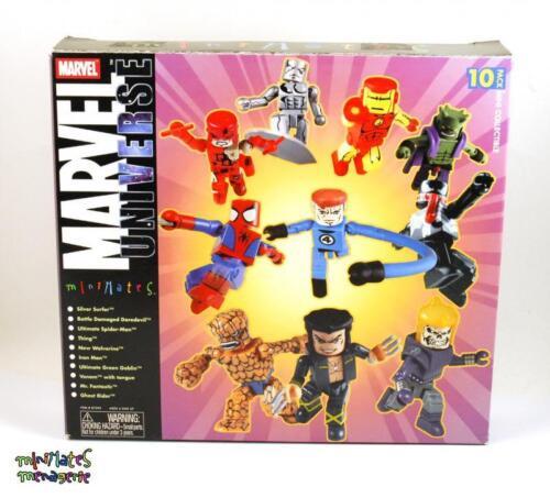 Marvel Minimates TRU Toys R Us 10-Pièce Cadeau Pack Box Set SURFEUR D/'ARGENT, Venom