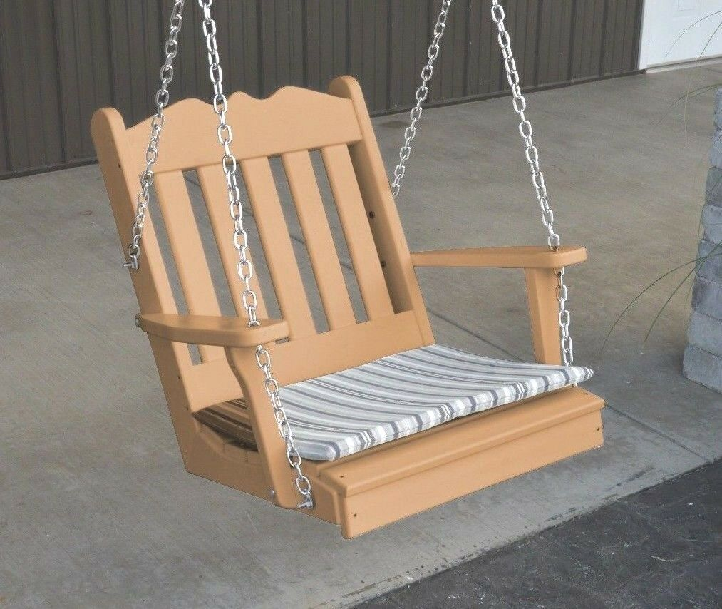 Poly Poly Poly Lumber Wood ROYAL ENGLISH SWING CHAIR CEDAR Farbe AMISH MADE 2FT SWING 811a70
