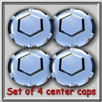 Set 4 Chrome 2002-2003 Gmc Envoy Xl, Xuv Center Caps Hubcaps For Aluminum Wheel