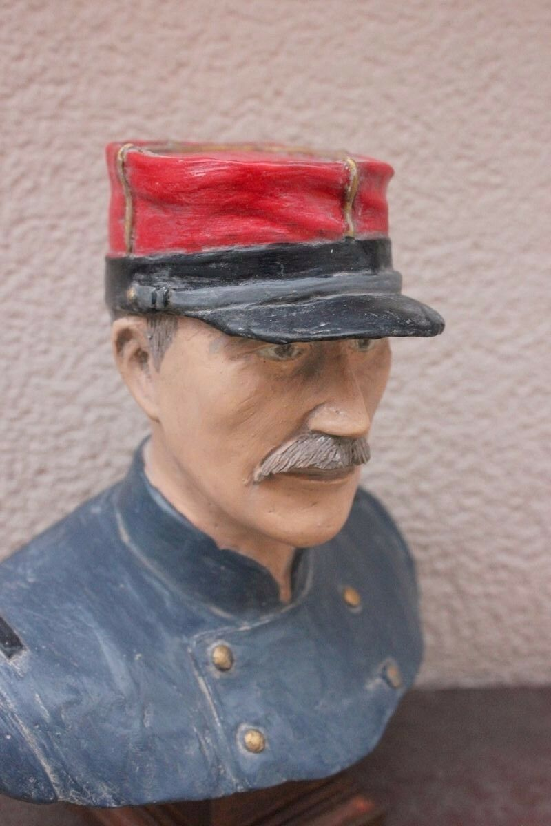 Buste  d'un Soldat Français Français Français de 14 en tenue M-1870 (Fabrication France) 58781d