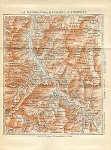 1923 VINTAGE MAP-ALPS-LA MAURINNE-D\'EPIERRE TO St MICHEL | eBay