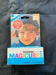 1976 Sylvania Magic Cubes Blue Dot MAGICUBES Pack of 3 UNOPENED VINTAGE