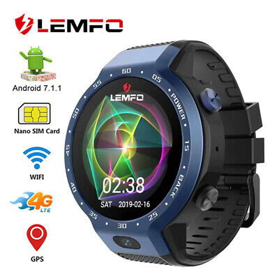 LEMFO LEM9 4G Smart Watch Android 7.1 GPS WIFI 16GB Heart Rate For Android iOS