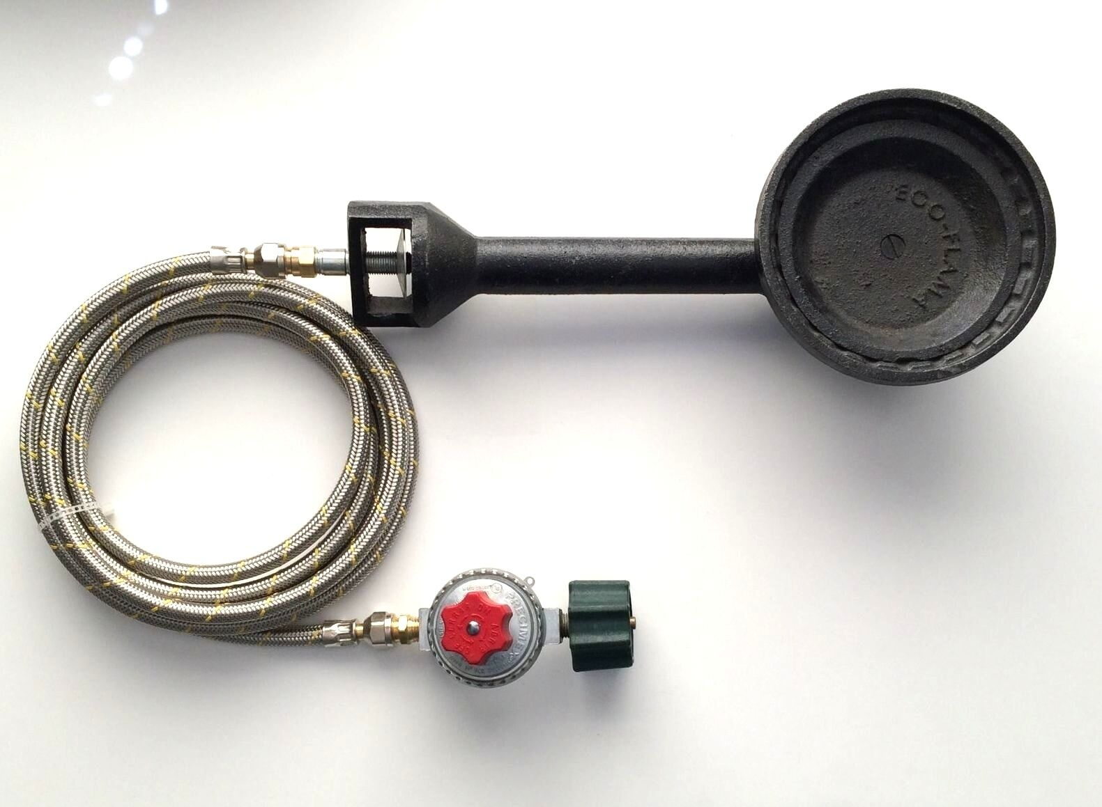 Propane Gas Burner with Type 1 Regulator and 5ft Stainless Steel braided Hose