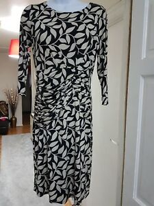 Nero Dress 8 Laura Leaf Crema Ashley Career Size Work Print Archive Shift wwPq1zI