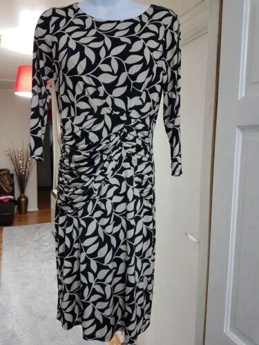 Black 8 Laura Print Leaf Archive Dress Shift Work Size Ashley Cream Career xSSpIwqA
