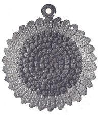 Vintage Crochet PATTERN to make Pot Holder Fancy Easter Bonnet Flower Applique