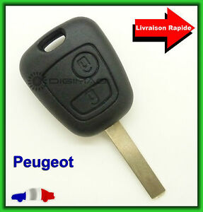 coque t l commande plip cl peugeot 106 206 306 407 lame vierge ebay. Black Bedroom Furniture Sets. Home Design Ideas