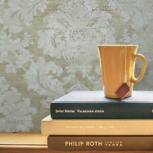 Victorian-Wallpaper-brass-Gold-Metallic-off-white-beige-damask-Textured-plaster