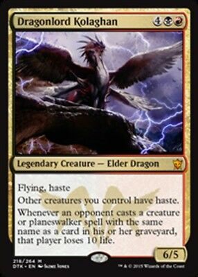 Dragonlord Kolaghan FOIL x1 Magic the Gathering 1x Dragons of Tarkir mtg card