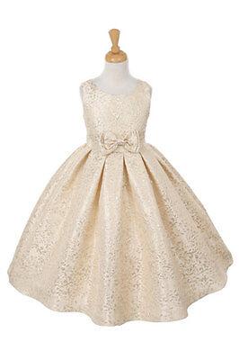 New Satin Sequin Flower Girl Dress Beauty Pageant Birthday Wedding Jr.Bridesmaid