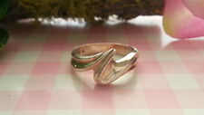 Beautiful Solid Swirl Waves Band Ring Real Sterling Silver 925 *Size7.25 *17Q
