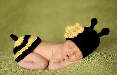 NEWBORN BABY GIRL BOY CROCHET HAT/ CLOTHES / SHOES PHOTO PHOTOGRAPHY PROP OUTFIT