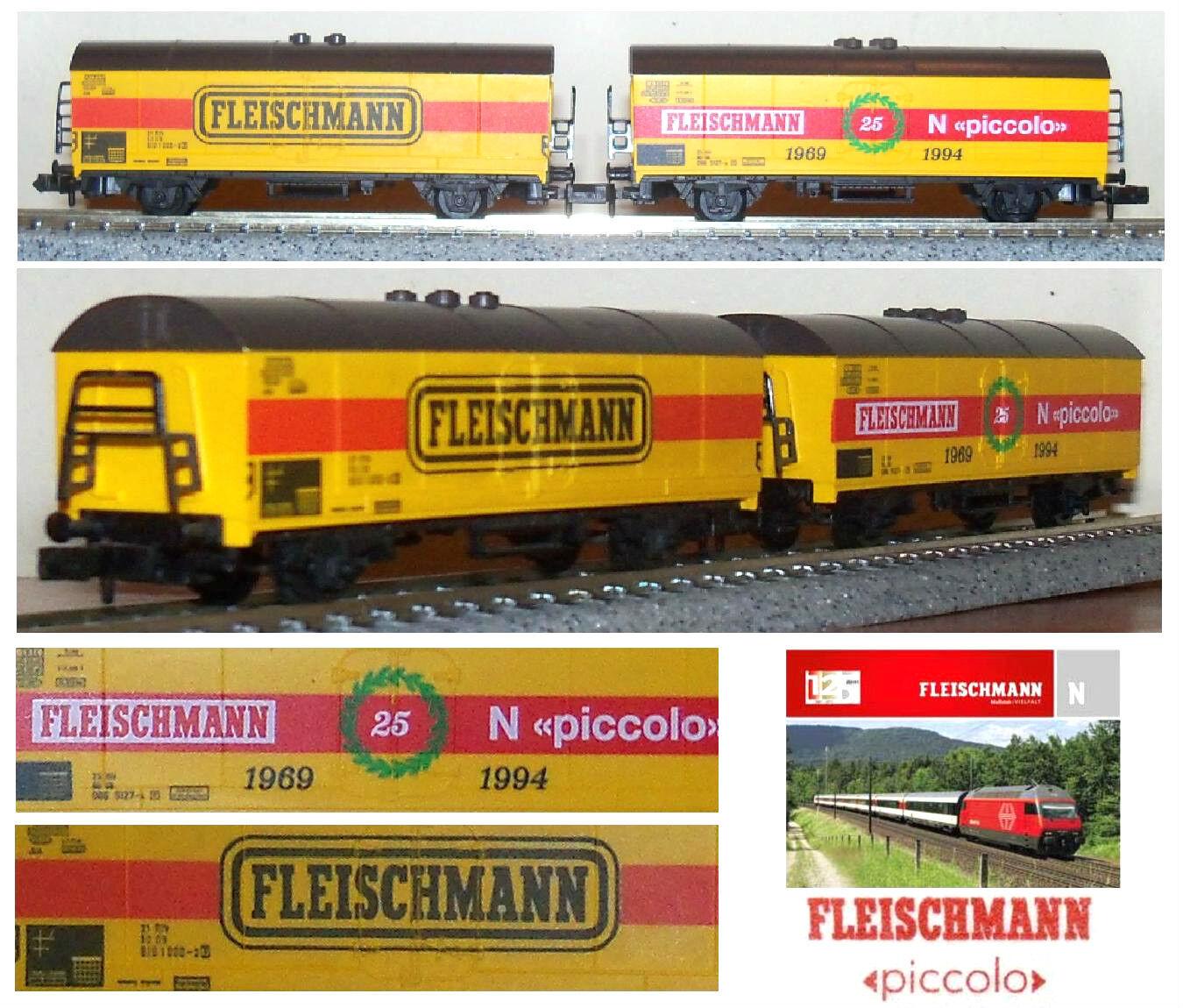 FLEISCHMANN Limited Edition N.2 CARRI MERCI GOODS-CAR 25° ANNIVERSARIO SCALA-N