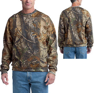 Mens Realtree AP Camo Sweatshirt Crew Neck Russell Outdoors S M L XL ... 70de20bb94a