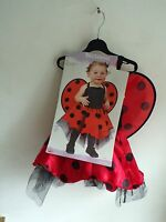 Halloween Baby Ladybug Infant Costume Dress with Wings Attached Size up to 24 mo