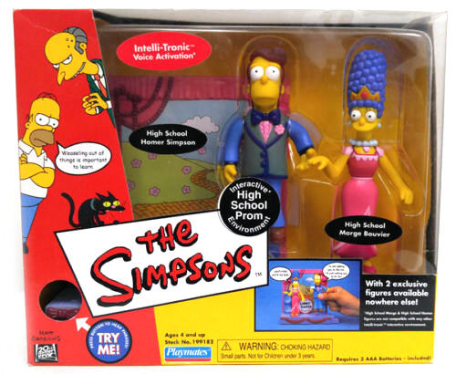 Matt Groening Cartoon  THE THE THE SIMPSONS HOMER MARGE PROM boxed 5  figure toy set a82