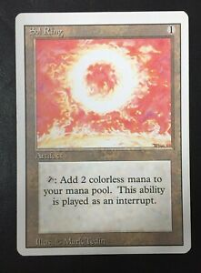 Magic The Gathering 1x Sol Ring ~ REVISED ~  LP