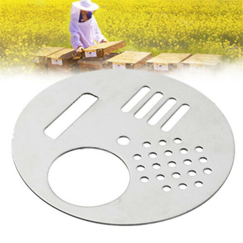 1Pc Stainless Steel Bee Hive Nuc Box Entrance Gates Beekeeping Equip Tool YEHXN