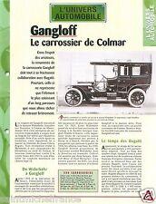 Gangloff Carrossier Colmar Bugatti Autocar Berliet PLB 8 Car Auto FICHE FRANCE