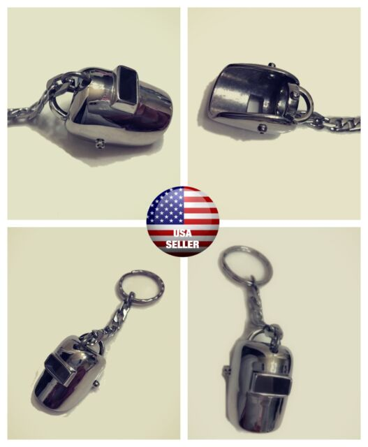 Brand New Stainless Steel Keychain Ring holder 316L Welding Helmet USA Seller