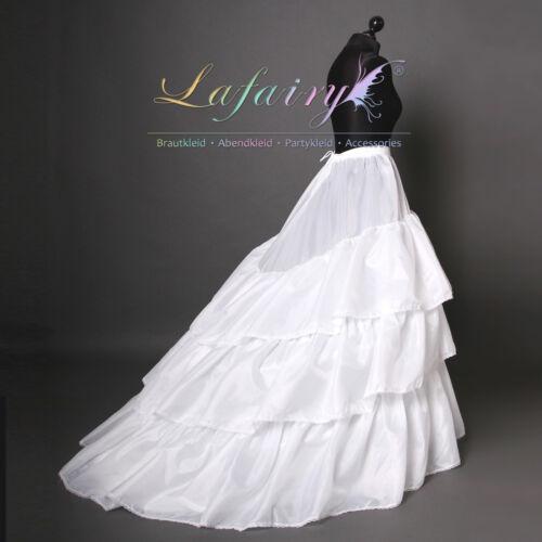 Reifrock Unterrock Petticoat verstellbar mit Schleppe mit 3 Ringe Lafairy Mode