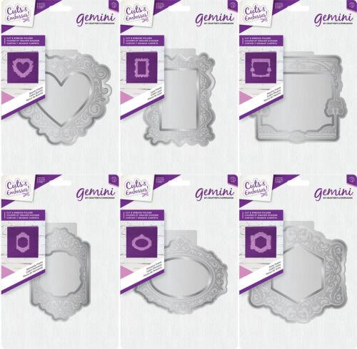 by Crafters Companion *NEW 2018* Gemini Cut /& Emboss Folders