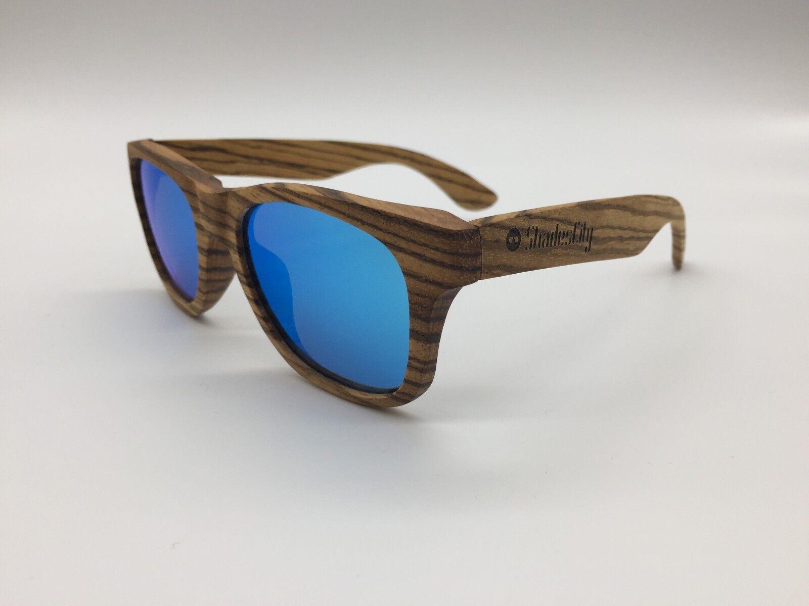 2019 Handcrafted Unisex Zebra Wood Frame Blau Mirror TAC TAC TAC Polarized Sunglasses | Nicht so teuer  fd4531