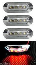 4x 4 LED hinten ROT Chrome Einfassung Markierungslicht für Lkw Bus Lastwagen DAF