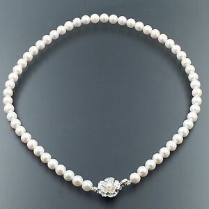 PEARL FLOWER bracelet-silver-colored metal rigid pinkish flower and Pearl