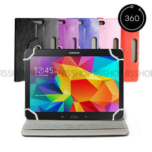 """10"""" Android Tablet Folio Leather Flip Case Cover Universal 360 Rotating"""