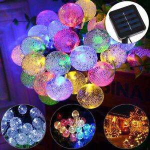 30 LED Lamp Solar Strings Light Crystal Ball Christmas Trees Garden Fairy Party