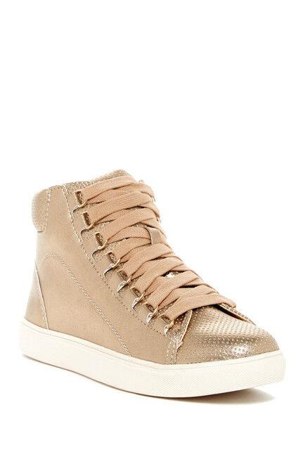 Steve Madden Darya High Top Lace Up Sneaker Rose Gold Größe 7 Fashion Sneaker