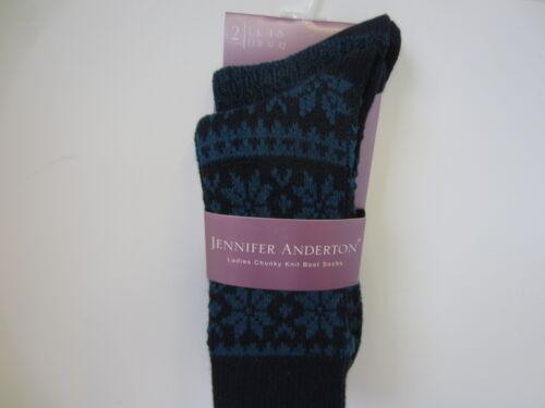 Onorevoli Jennifer Anderton trama grossa Henley Boot SOCKS LANA MISURA 4-8 soltk01g1