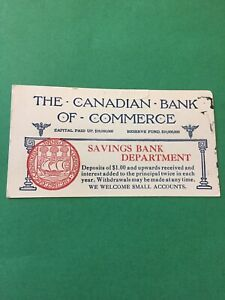 The-Canadian-Bank-Of-Commerce-Savings-Bank-Canada-Vintage-Card-Paper-E60