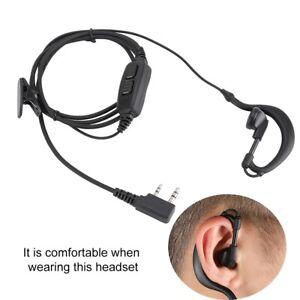 Auricular-Microfono-2-Pin-PTT-Radio-bidireccional-Para-Baofeng-Walkie-Baofeng