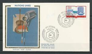 Geneva-UN-Collection-Colorano-FDC-Enveloppe-Scott-64-Stamp-Mar-11-1977