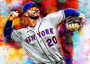 2021 Pete Alonso New York Mets 7/25 Art ACEO Print Card By:Q