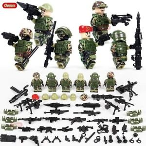 8pcs Lego United States Marine Corps American Soldier figures