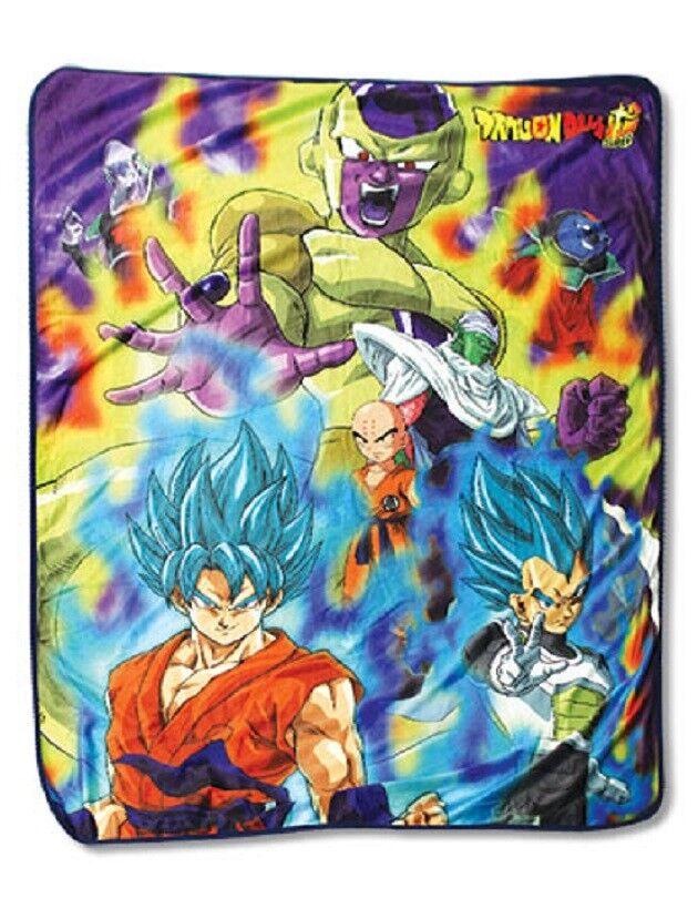 New Fleece Dragon Ball Z Goku Vegeta Frieza gold Throw Gift Blanket DragonBall Z