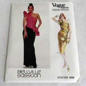 Vtg-Vogue-Designer-Original-Pattern-1635-Bellville-Sassoon-Evening-Wear-Size-10