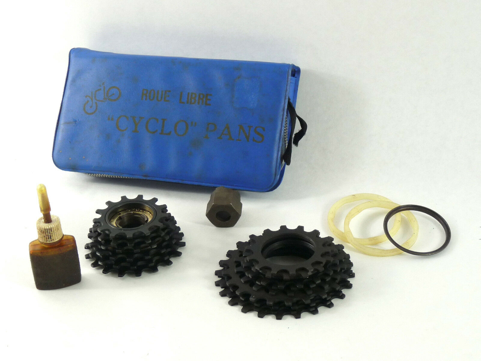 Cyclo Pans Freewheel kit remover 16 cogs & spacers Vintage Bike 6 speed NOS