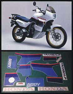 Details Zu Honda Xl 600 V Transalp 1987 Aufkleberklebstoffestickersabziehbild