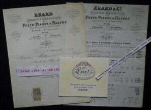 Rare-PIANOS-ERARD-catalogue-tarif-1898-facture-Blondel-amp-Cie-Paris-Musique
